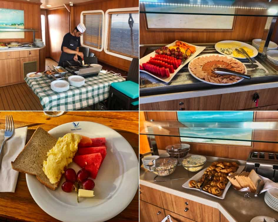 Breakfast Buffet and Omelette Station onboard the M/S Panorama II