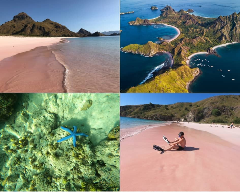Padar Island sand is actually Pink on Pink Beach