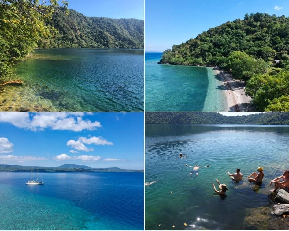 Satonda Island Indonesia Aerial Views of the Island, and Swimming in the Lake