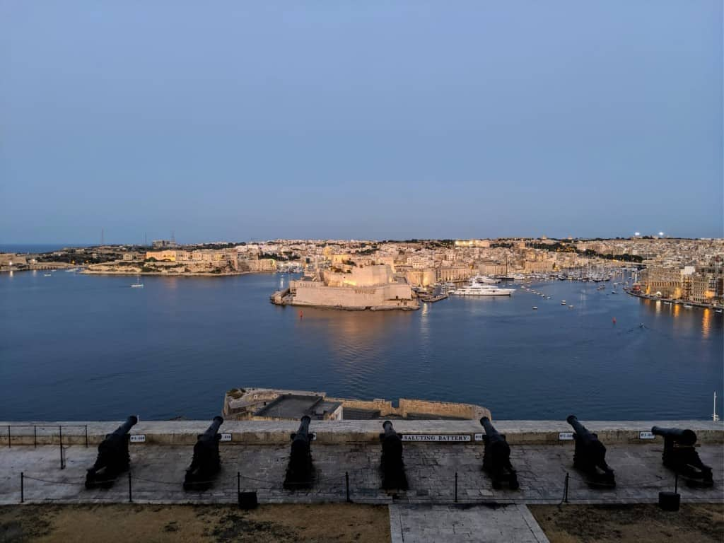 Cannons and Fort St Angelo, Grand Harbour, Valletta