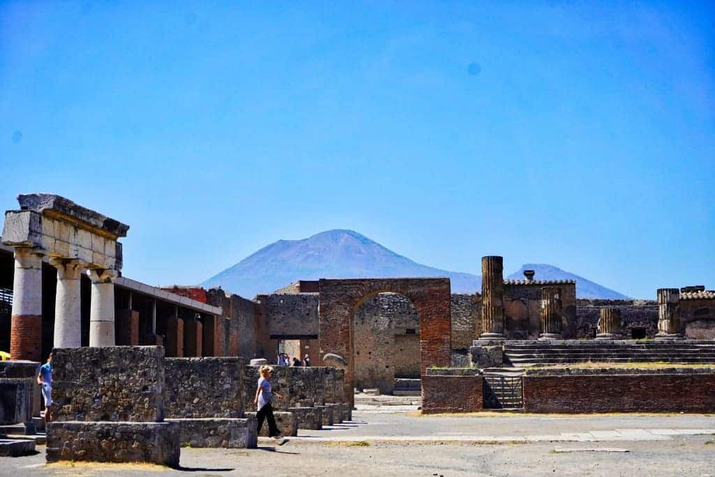 Pompeii with Mt Vesuvius in the background