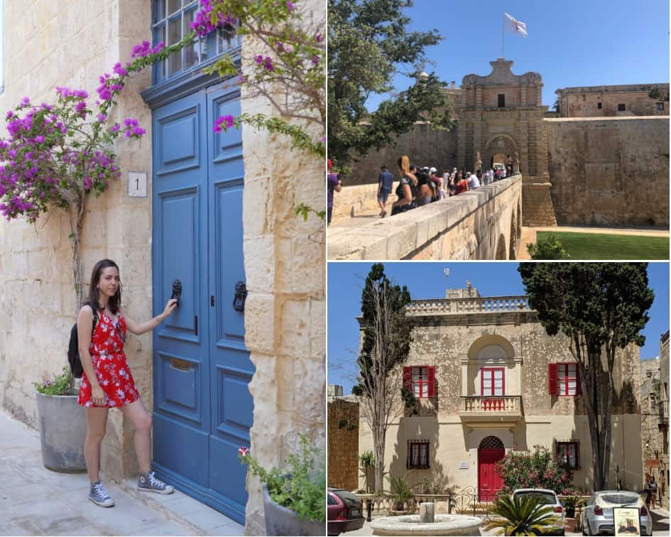 Inside the Ancient City of Mdina, Malta