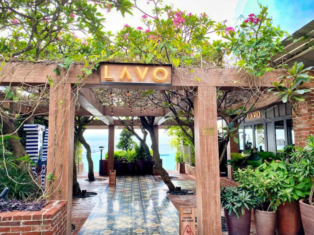 Entrance to Lavo Restaurant at Marina Bay Sands Hotel