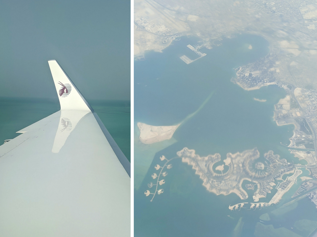 Flying experience with Qatar Executive and Doha views from the sky