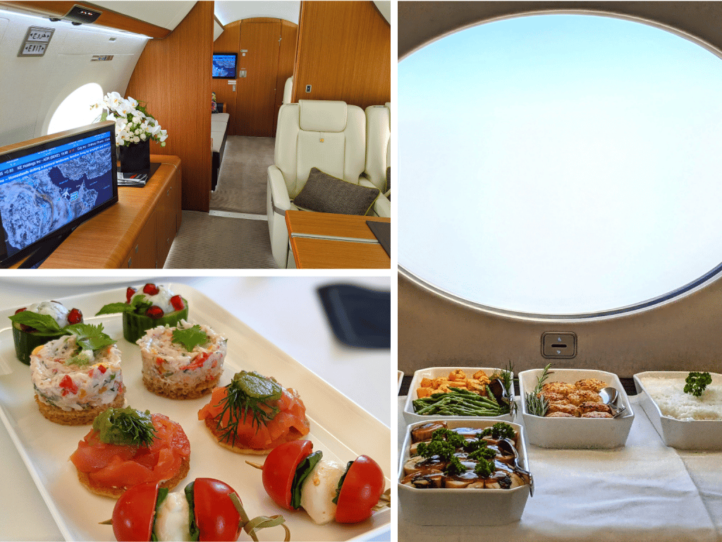 Qatar Executive's Gulfstream G650ER Cabin and Service Onboard